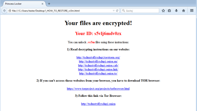 All About Princess Locker 20 Ransomware Free Malware Protection