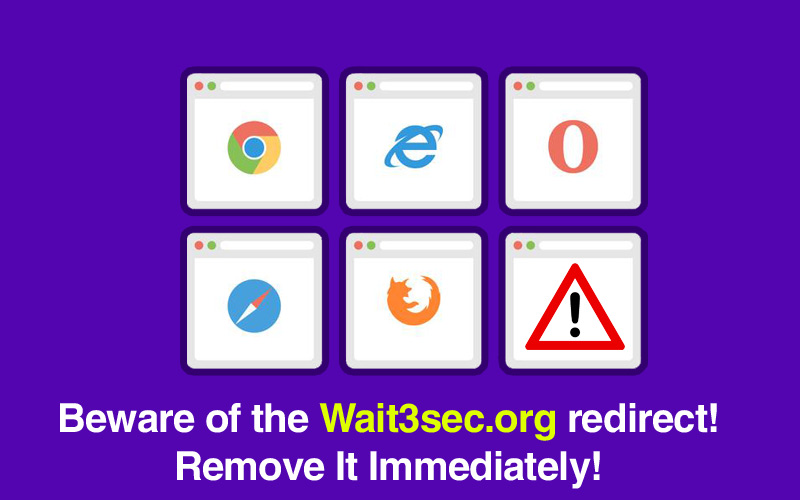 How To Remove Wait3secorg Redirect Virus From The System