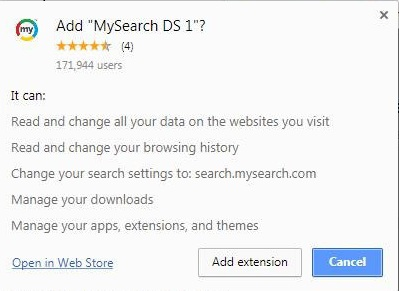 mysearch.com add extensions