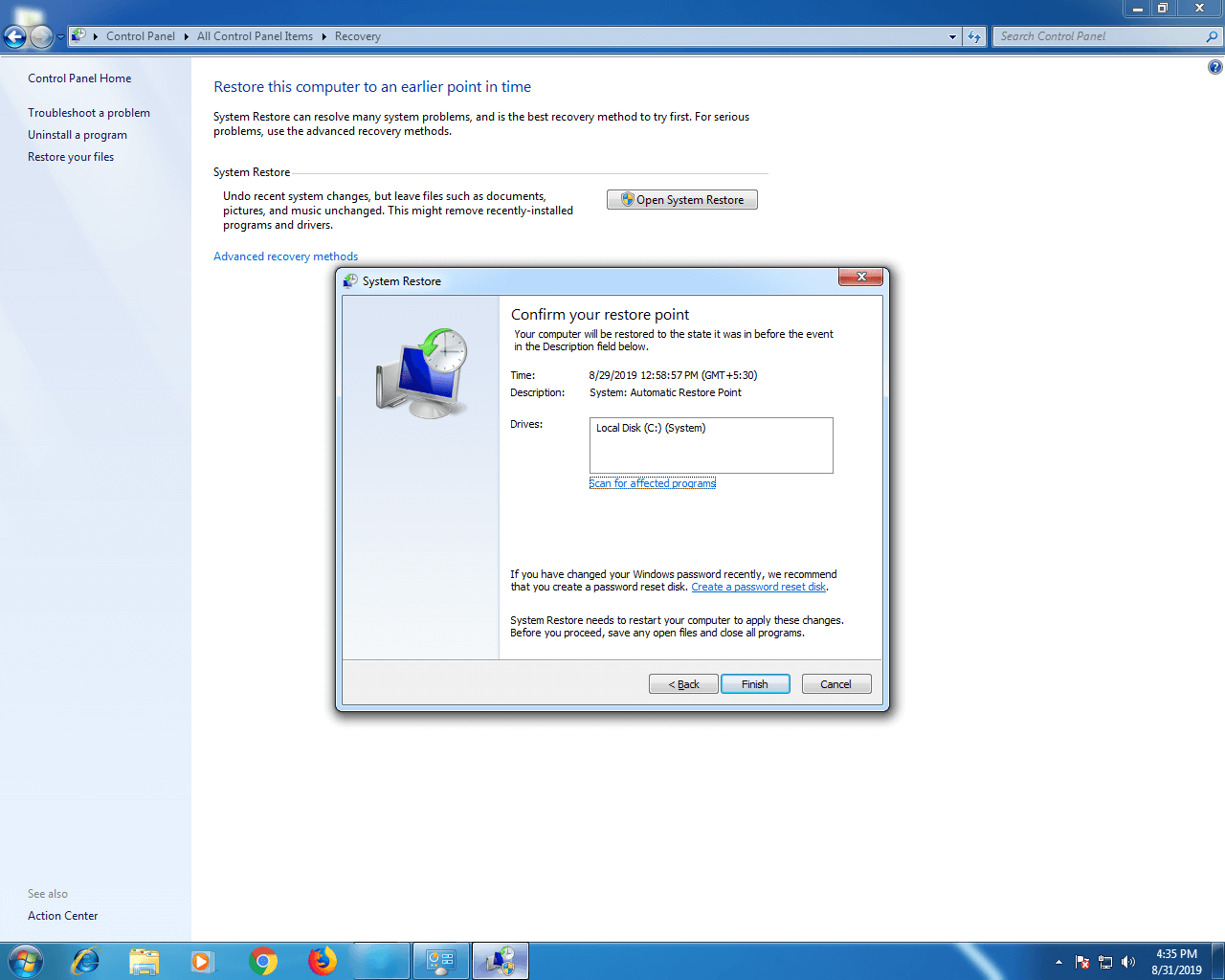 Step 7-Windows 7 Control Panel