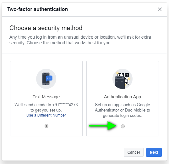 Facebook 2 factor authentication:Evade SMS OTP with