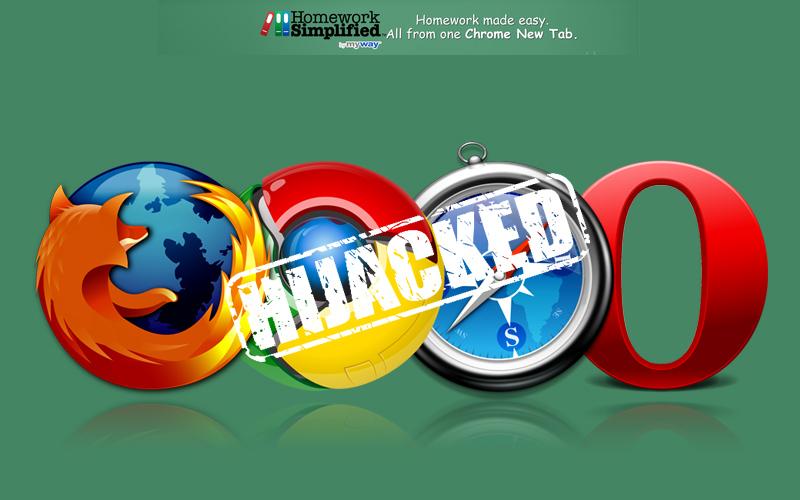 HomeworkSimplified Browser Hijacker