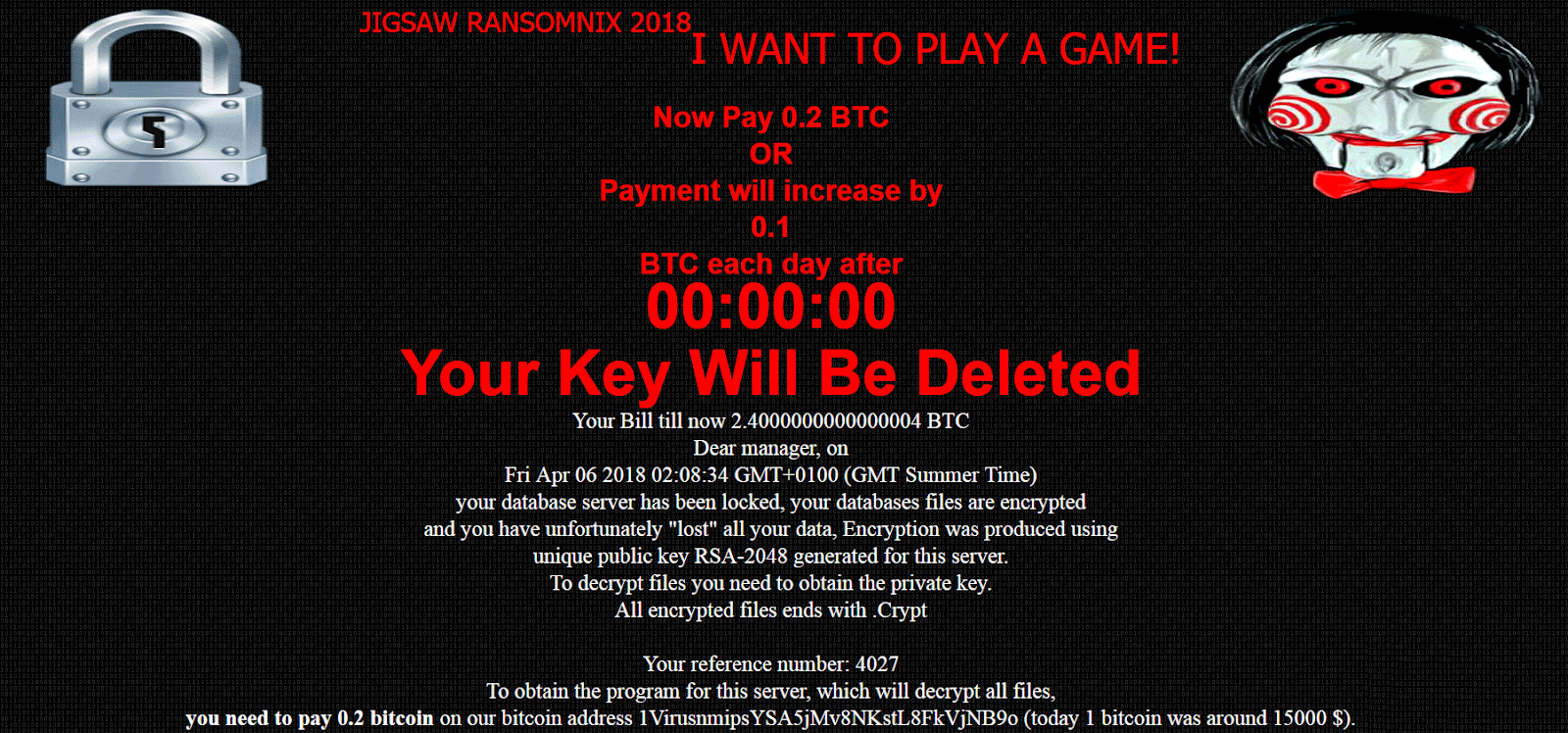 Ransomnix Ransomware ransom Note Part 1