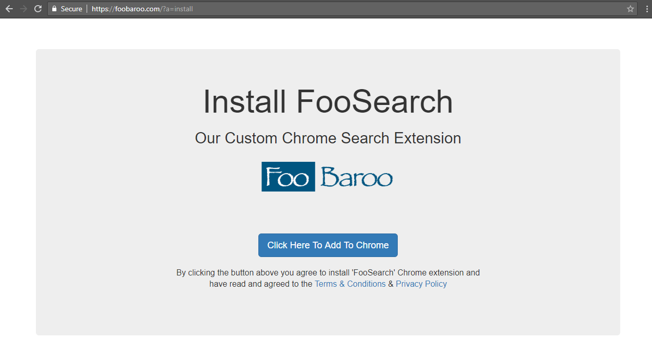 foobaroo Browser Hijacker