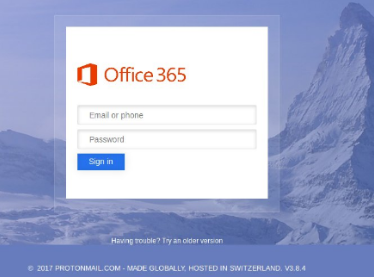 Office365 scamming redirect
