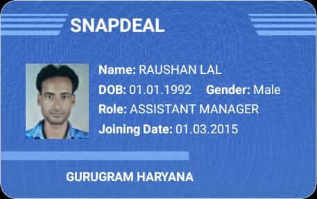 SnapDeal ID Card