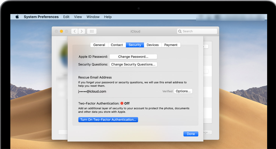 2FA on your MAC with OS X EI Captian or later