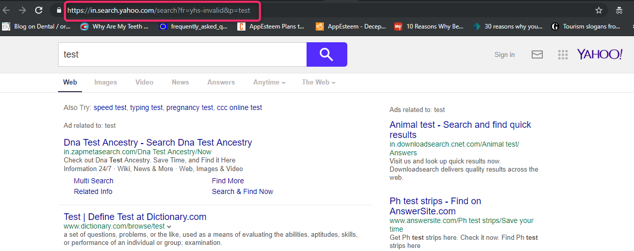 MyStreamingTab Browser Hijacker Search Result