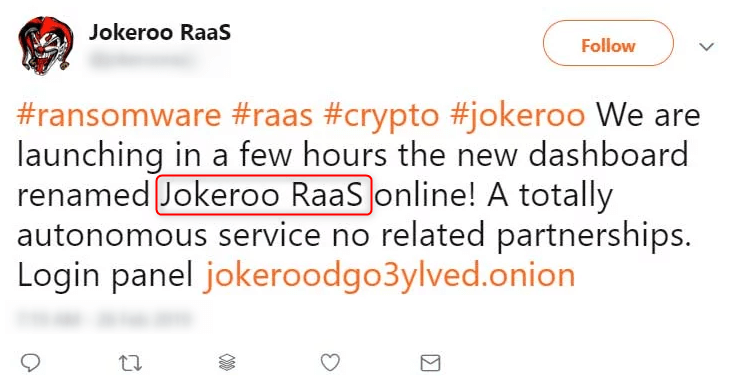 Jokeroo promoted its services on Twitter