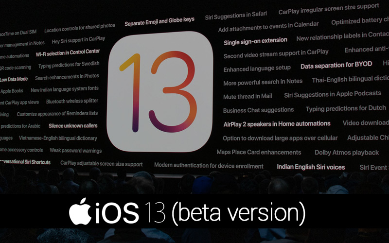 iOS 13 Beta Version