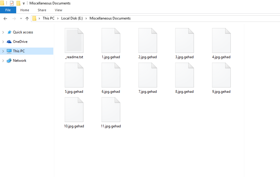 Files Encrypted By Gehad