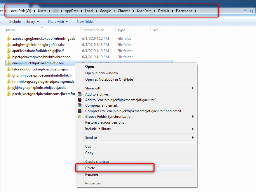 Delete MyOfficeX Search from C Drive