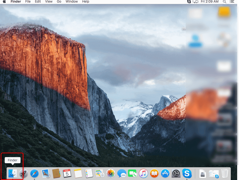Open Finder on Mac
